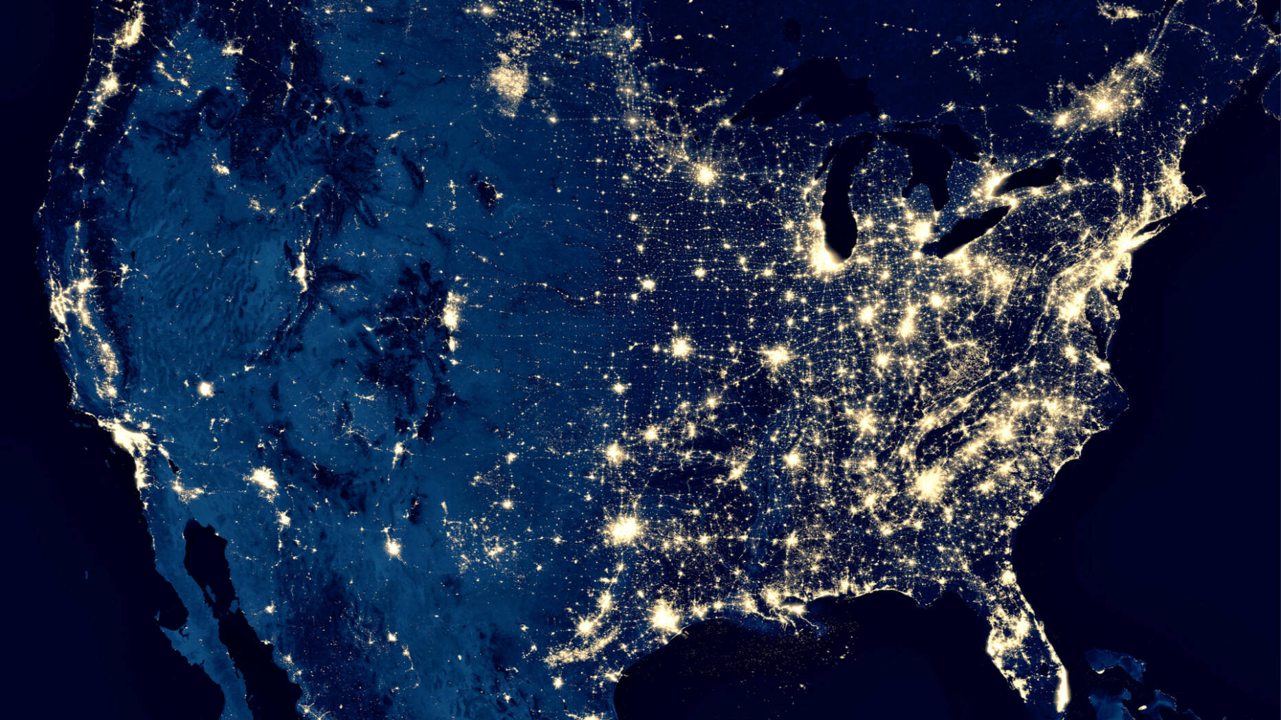 A map of deregulated energy use in the United States